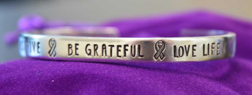 Destroy Pancreatic Cancer Handmade Bracelet